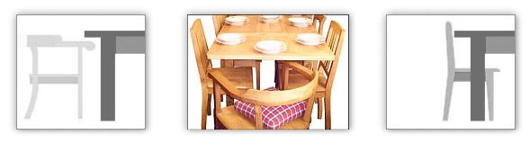 Tischgröße Platzbedarf Reprostylede