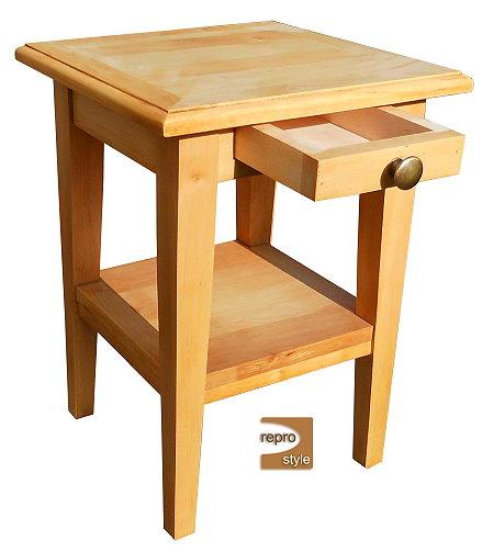 hocker tisch nachttisch couchtisch beistelltisch mit schublade und ablage. Black Bedroom Furniture Sets. Home Design Ideas